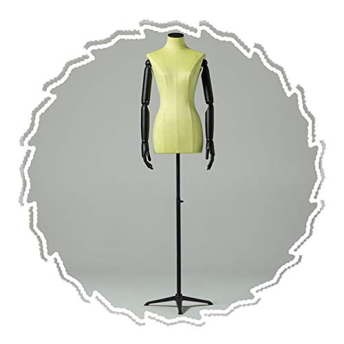 RZEMIN ZEMIN Maniquí de Costura, Accesorios Modelo Moda Femenina, Soporte Exhibición Ventana Tienda Simulada Sastres Base Hierro Forjado Media Longitud, 3 Colores (Color : A)