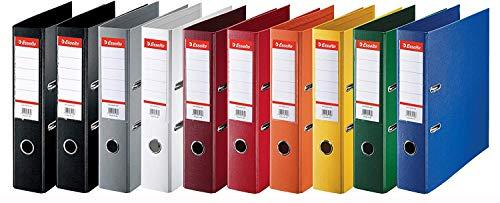 Esselte PlastikOrdner Standard, DIN A4, 75 mm, sortiert, 10er Pack