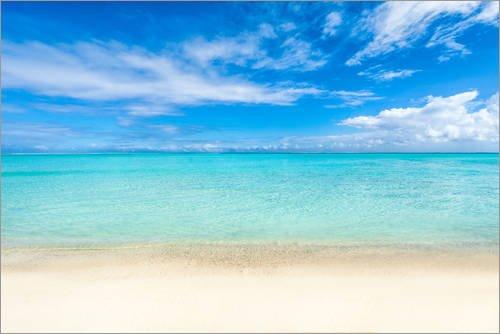 Acrylglasbild 30 x 20 cm: Meer und Strand in Tahiti Französisch Polynesien von Jan Christopher Becke - Wandbild, Acryl Glasbild, Druck auf Acryl Glas Bild