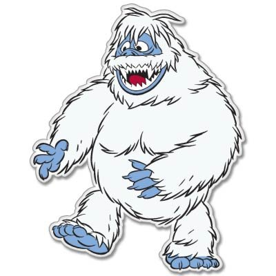 Abominable Snowmonster Rudolph Rednose Vynil Car Sticker Decal - Select Size
