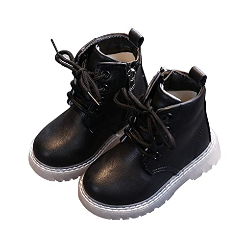 KewlCover Girls Boys Winter Snow Boots Mid Calf Combat Lace up Boots Waterproof Outdoor Ankle Boots
