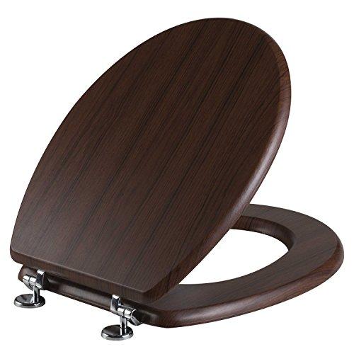 Bisk WC-Sitz, Dunkles Holz, MDF, Braun, 37,1x 6x 46,4cm