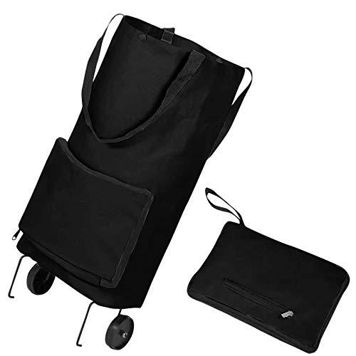 Pistaz - Carro de compra, supercarga de capacidad de carrito de escalera, carrito plegable de compra, gran bolsa de compra, carro de cuerda elástica ajustable