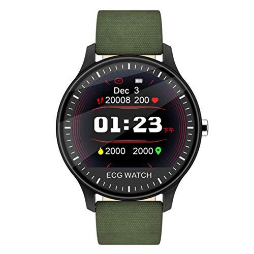Wsaman Pulseras Actividad Reloj Impermeable Fitness Tracker Smartwatch Color Screen Inteligente Rastreador Deportes, con Pulsómetro Monitoreo del Sueño para Android/iOS/Hombre/Mujer,Verde