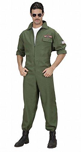 WIDMANN - 89021, Costume per travestimento da pilota da caccia, taglia: S, Verde