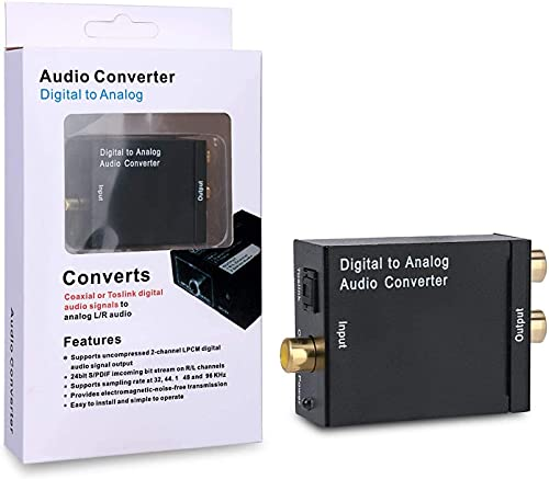 DAC - Digital Optical Coax to Analog RCA Audio, Comes with a Toslink...