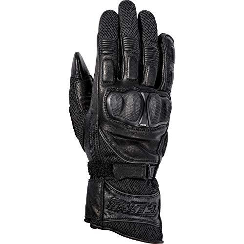 FLM Motorradhandschuhe lang Motorrad Handschuh Sports Lederhandschuh 9.0 schwarz 10, Herren, Sportler, Ganzjährig