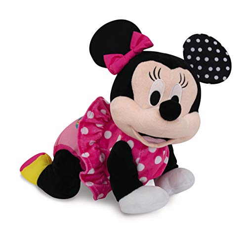 Clementoni 17260 Disney Baby - Minnie Krabbel mit mir, kuscheliges Lernspielzeug für Baby - s & Kleinkinder, Plüschtier zur Entwicklung der Motorik, Förderung der Entwicklung
