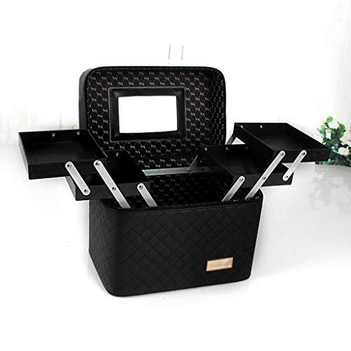 HUOLEO Multifunktions Make-up Organizer Mit Spiegel, Hand-gehalten Zweistöckig Tablett Lippenstift Schminke Aufbewahrungsbox Für...