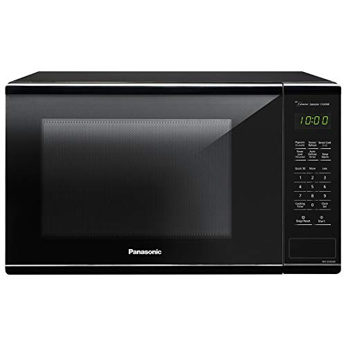 Panasonic Countertop Microwave Oven with Genius Sensor Cooking, Quick 30sec, Popcorn Button, Child Safety Lock and 1100 Watts of Cooking Power - NN-SU656B - 1.3 cu. ft (Black)