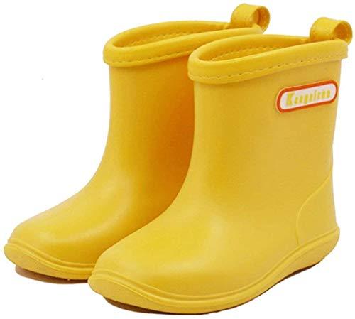 Botas de Agua Impermeable y Antideslizante Caucho de PVC Botas de Lluvia para Niños y Niñas