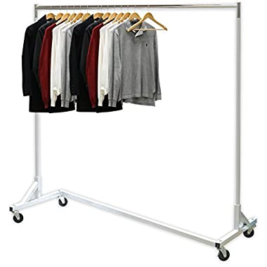 SimpleHouseware Industrial Grade Z-Base Garment Rack, 400lb Load with 62  extra long bar