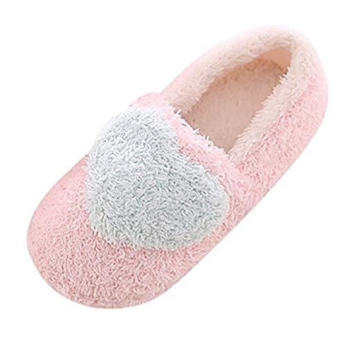 Xmiral Baumwollpantoffeln Damen Schöne Weiche, Mit Plüsch Baumwolle Gepolsterte Schuhe Halbschuhe(38,Blau)