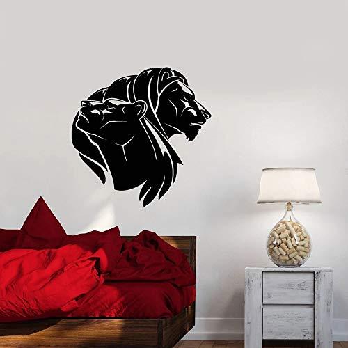 YuanMinglu Löwe und löwin Vinyl Wand Applique Schlafzimmer Dekoration afrikanische Liebe Tier Wohnzimmer Dekoration wandaufkleber Nordic 42x42 cm