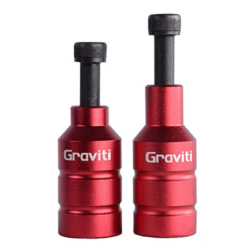 GRAVITI Pro Stunt Scooter Pegs CNC Aluminum Pegs with Strong Axle Hardware for Kick Stunt Scooter Freestyle Stunt Scooters (Red)