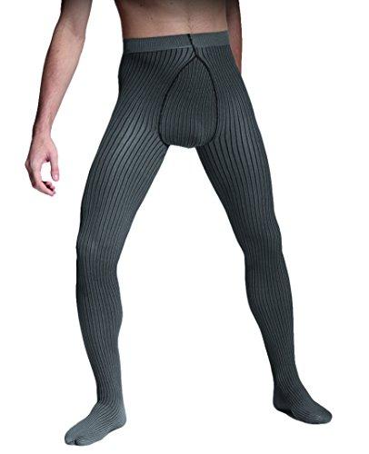 Warme mannen 3D strepen patroon panty's (kleur variaties) 40 Den zeer hoge kwaliteit