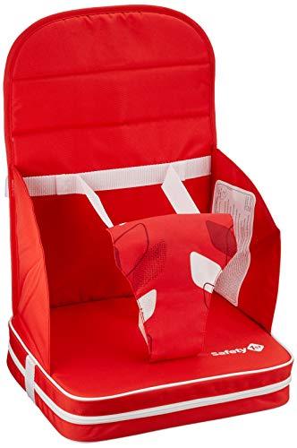 Safety 1st 2750827000 Sitzerhöhung Travel Booster, kompakt zusammenfaltbare Reisesitzerhöhung, inkl. 3-Punkt-Gurt für einen sicheren Halt, ab ca. 18 Monate, Red Campus, rot, 506 g