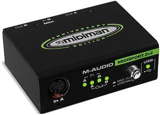 M-Audio Midisport 2x2 - Interfaz MIDI USB plug & play con 2 entradas / 2 salidas y 32 canales MIDI, para Mac y PC