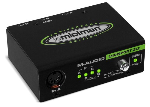 M-Audio Midisport 2X2 Jubiläumsausgabe - 2-In/2-Out USB MIDI Interface