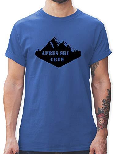 Après Ski - Apres Ski Crew - S - Royalblau - Shirt Apres ski - L190 - Tshirt Herren und Männer T-Shirts