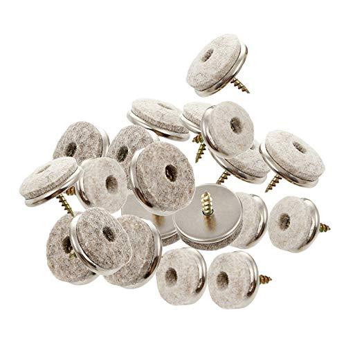 #N/a Almohadillas de muebles de fieltro-Paquete de 20 uñas-en suelo de madera dura círculo redondo Protector se desliza para silla, sofá, Mesa