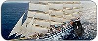 ゲーミングマウスパッド大型XXL車ボートステッチエッジのある美しいボートマウスパッド