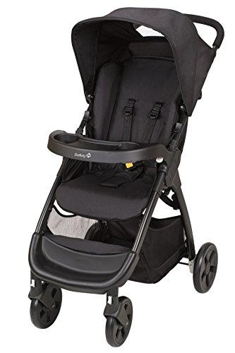 Safety 1st Amble kinderwagen, inklapbaar, compact, met dienblad en grote mand, 0 Mesi-15 kg, Full Black