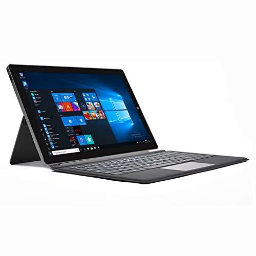 "2in1 Laptop, Detachable Keyboard, 13.3"" FHD IPS Touchscreen, 1920x1080 Pixels, 4GB RAM, 64GB ROM, Intel Celeron Processor, Windows 10 S, Support SSD Extension, WinBook(Grey)"