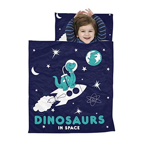 Nickerchen Matte Jungen Astronaut Dinosaurier im Weltraum Kind Nickerchen Matte Jungen Weiche Mikrofaser Leichte Kinder Kleinkind Nickerchen Matte Perfekt für Vorschule, Kindertagesstätte und Übernac