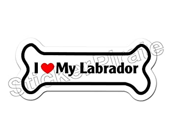 Dog Bone Magnet I Love My Labrador Car Truck Locker Magnet