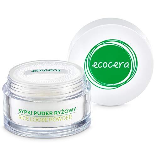ECOCERA Reis Loser Puder, Perfekt für Fettige Haut und Mischhaut, Hypoallergen Zart Transparent Hell