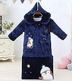 Dtcat Sac de Couchage pour Enfants,Sac de Couchage pour bébé,Sac de Couchage épais pour bébé,Sac de Couchage en Coton pour Jambe d'hiver @ Blue_130cm,Couverture Portable pour garçons