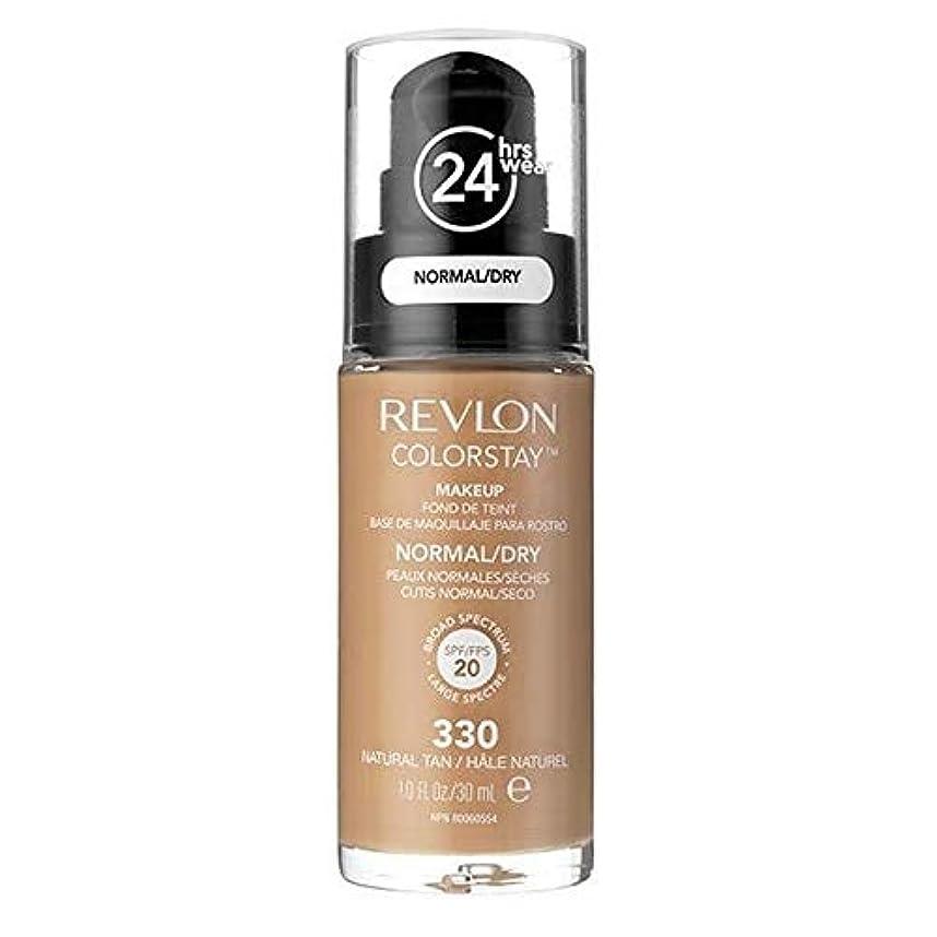 入学する呼吸する単独で[Revlon ] レブロンカラーステイ基盤ノルム/ドライNat日焼け30ミリリットル - Revlon Color Stay Foundation Norm/Dry Nat Tan 30ml [並行輸入品]