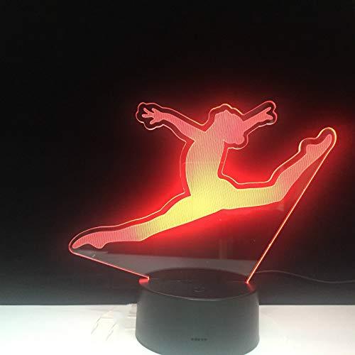 Veilleuse Split Jump Dance Optical Illusion Light Touch Sensor Baby Kids Night Light 16 Couleurs Décoratives 3D Gift