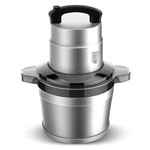HAOT Máquina para Picar Carne de Gran Capacidad para el hogar y Comercial eléctrica de Acero Inoxidable 6L Máquina de ajo Cortador de Verduras Máquina de cocción