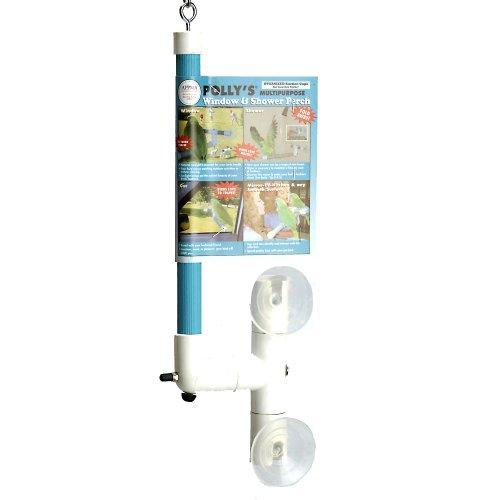 鳥用シャワーパーチ 便利な携帯止まり木・浴槽や窓辺に簡単取り付け☆