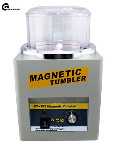 Best Buy! CGOLDENWALL KT185 Magnetic Tumbler 16cm Jewelry Polisher Super Finishing.