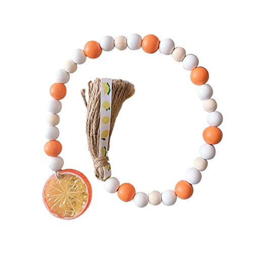 Enjoyyouselves Wooden Bead Chain, Nordic Style Fruit Tassel Garland for Tassel Decoration for Home