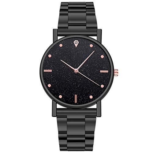 jiushixw Relojes Reloj de Cuarzo Dial de Acero Inoxidable Reloj Casual Bracele Reloj de Mujer Imán Hebilla Vibrato #E