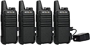 4-Pack Retevis Two Way Radio Long Range Rechargeable Walkie Talkie