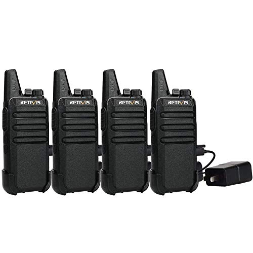 Retevis RT22 Two Way Radio Long Range Rechargeable,Portable 2 Way Radio,Handsfree Walkie Talkie for Adults Commercial Cruises Hunting Hiking (4 Pack)