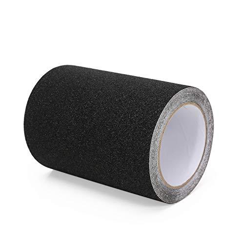 cinta antideslizante, de alta tracción, no deja residuos adhesivos fáciles, mejor agarre, fricción, adhesivo abrasivo para escaleras, seguridad, escalón de rodadura, interior, exterior, (10 cm x 5 m)
