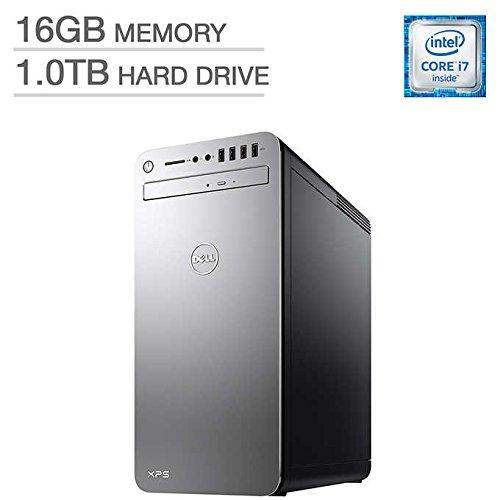 Dell XPS 8910 Special Silver Desktop - Intel i7-6700 6th Gen Quad-Core Skylake up to 4.0 GHz, 16GB DDR4 Memory, 1TB SATA Hard Drive, 2GB AMD Radeon RX 560, DVD Burner, Windows 10