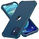 ORETECH Funda Silicona Carcasa para iPhone 12 Pro y iPhone 12 6.1', con [2X Protector de Pantalla Vidrio Cristal Templado]360 Anti-Arañazos Bumper TPU PC Delgada Caso Case para iPhone 12 Pro 12 - Azul