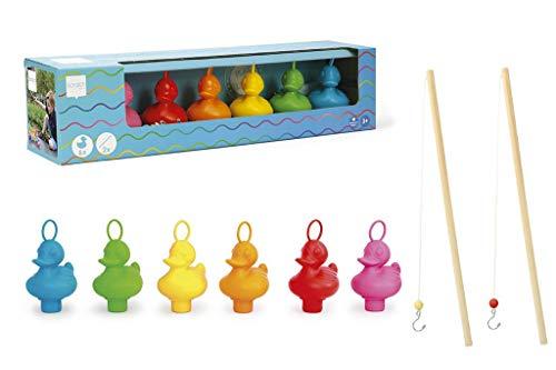 SCRATCH 6182026 Enten Angelspiel für Kinder, vollständiges Spielset, Mehrfarbig