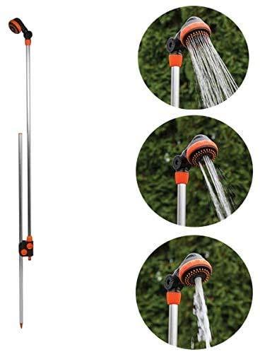 rg-vertrieb Gartendusche Gartenbrause mit Erdspieß Alu 150-210cm Pooldusche Campingdusche