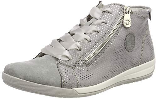 Rieker Damen M3041-41 High-Top, Grau (Cement/Grau-Silber 41), 38 EU