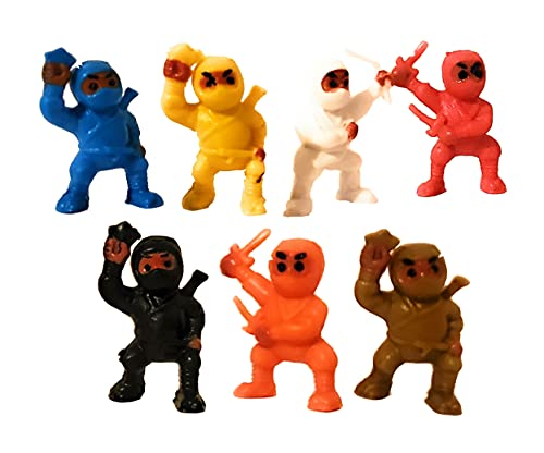24 Mini Karate Ninjas Warriors Fighters Figures Cupcake Cake Toppers Ninja Kung Fu Guys Martial Arts Men Lot Party Favors