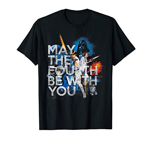 Star Wars May The Fourth Be With You Vintage Movie Poster T-Shirt