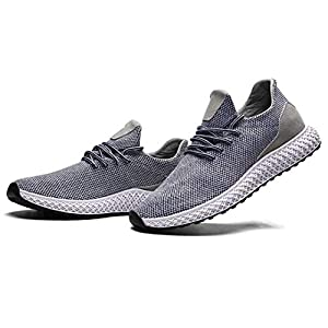 Mevlzz Mens Running Shoes Trail Fashion Sneakers Lightweight Tennis Sport Casual Walking Athletic for Men Basketball Volleyball Grey48